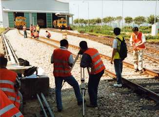 People being trained for Rail accident investigation